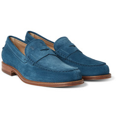 Tod's - Suede Penny Loafers