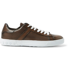 Tod's Polished-Leather Sneakers