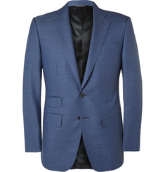 Thom Sweeney Blue Weighhouse Slim-Fit Wool Suit Jacket