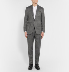 Thom Sweeney - Grey Slim-Fit Wool, Silk and Linen-Blend Suit Jacket