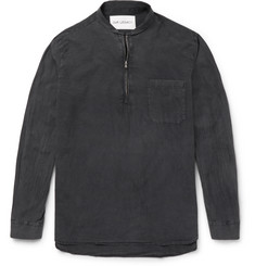 Our Legacy Shawl-Collar Half-Zip Cotton Shirt