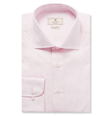 Pink Mayfair Slim-fit Cotton-poplin Shirt - Pink