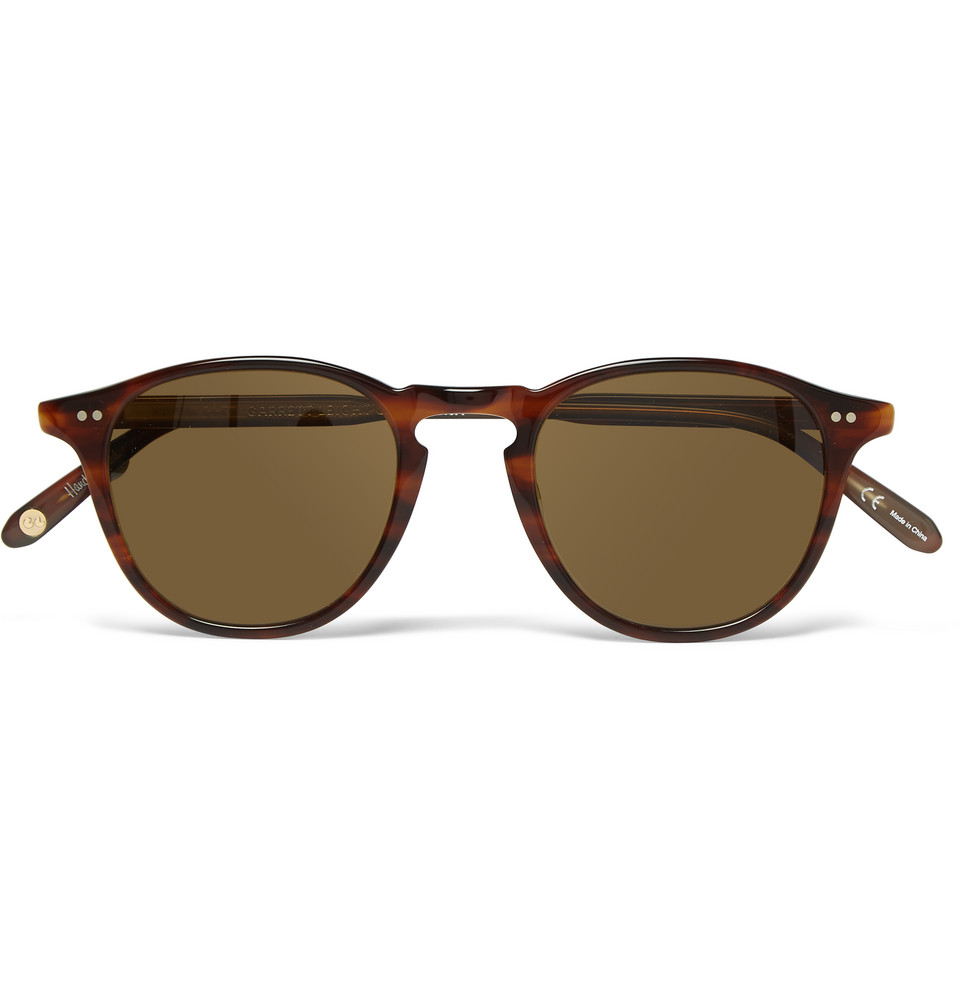 Hampton Round Frame Tortoiseshell Acetate Sunglasses Brown