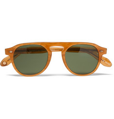 Garrett Leight California Optical Harding Round-Frame Acetate Sunglasses