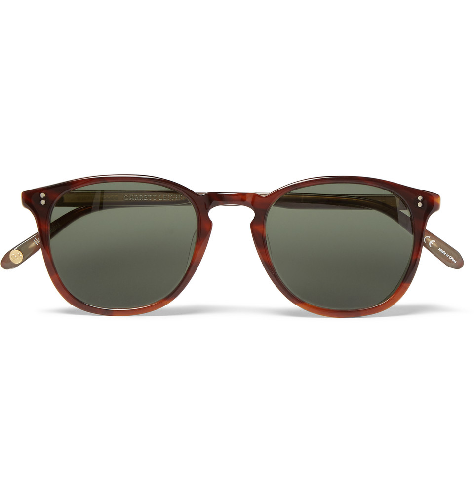 Kinney Round Frame Tortoiseshell Acetate Polarised Sunglasses Brown