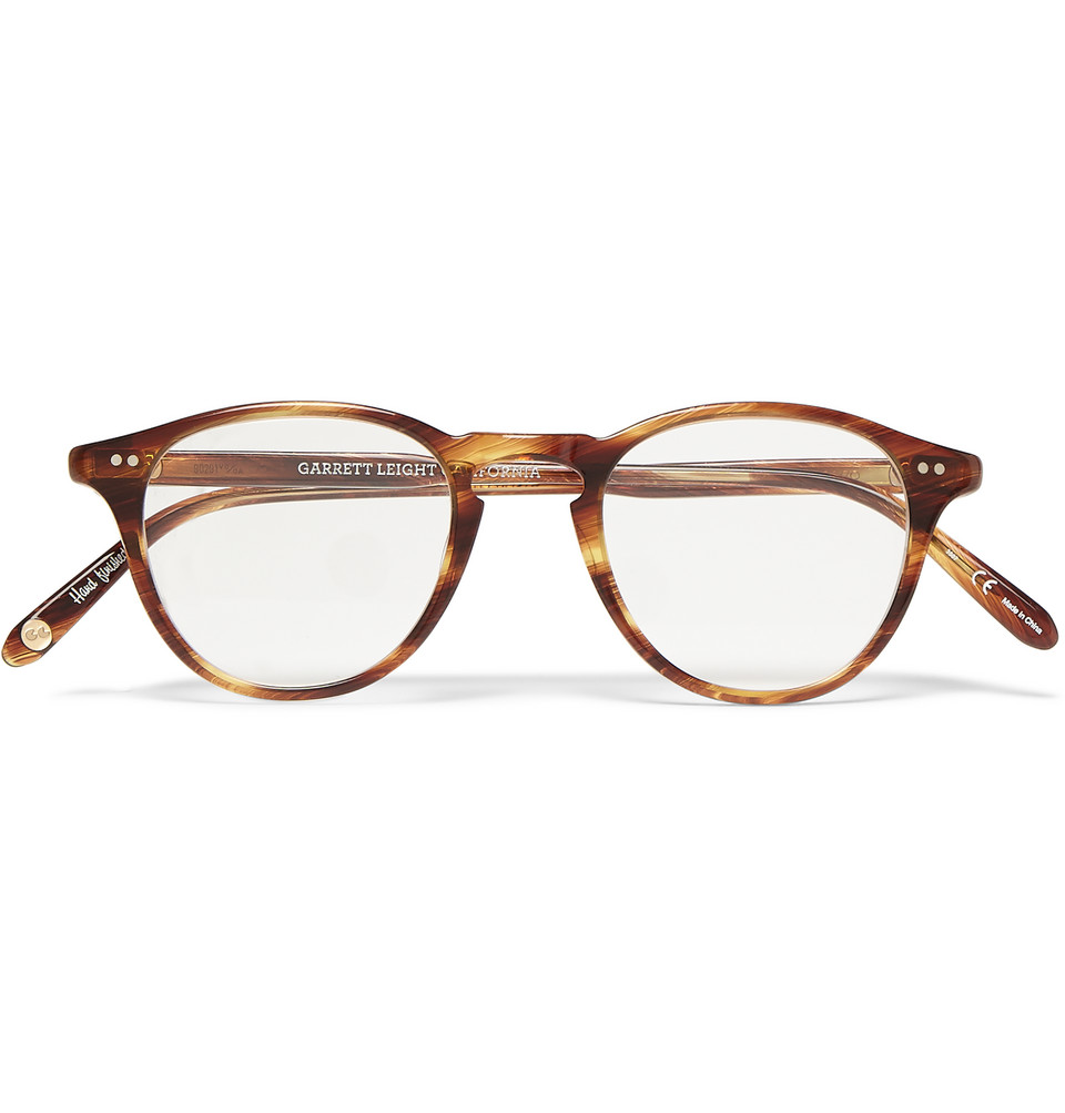 Hampton Round Frame Tortoiseshell Acetate Optical Glasses Brown