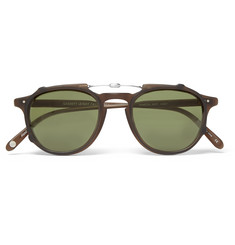 Garrett Leight California Optical Hampton 46 Matte-Acetate Optical Glasses with Clip-On UV Lense