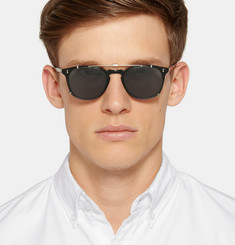 Garrett Leight California Optical Kinney Acetate Optical Glasses with Clip-On UV Lense