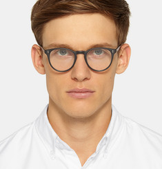 Garrett Leight California Optical Milwood Round-Frame Acetate Optical Glasses