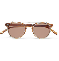 Garrett Leight California Optical Milwood Tortoiseshell Acetate  Optical Glasses with Clip-On UV Lense