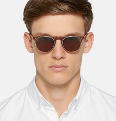 Garrett Leight California Optical - Milwood Tortoiseshell Acetate  Optical Glasses with Clip-On UV Lense