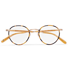 Garrett Leight California Optical Wilson Tokyo Round-Frame Acetate and Metal Optical Glasses