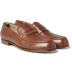 Officine Creative - Belmondo Grained-Leather Penny Loafers
