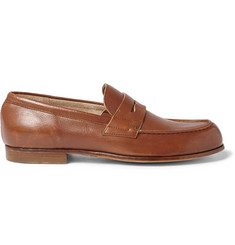 Officine Creative Belmondo Grained-Leather Penny Loafers