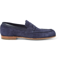 Officine Creative Belmondo Suede Penny Loafers