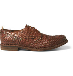 Officine Creative Woven Leather Derby Shoes