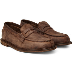 Hender Scheme - Slouchy Washed-Leather Penny Loafers
