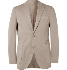 Hackett - Sand Slim-Fit Cotton and Linen-Blend Blazer