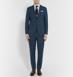 Hackett Blue Slim-Fit Wool and Mohair-Blend Suit