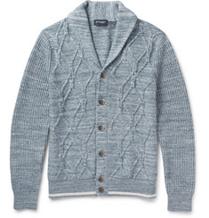 Hackett Shawl-Collar Cable-Knit Cotton Cardigan