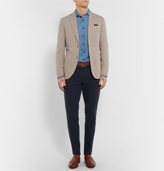 Hackett Slim-Fit Cotton and Linen-Blend Chambray Shirt