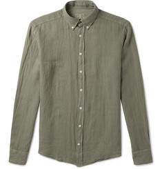 Hackett Button-Down Collar Linen Shirt