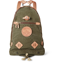 Yuketen - Leather-Trimmed Canvas Backpack