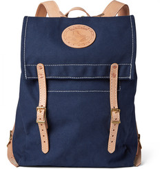 Yuketen Canoe Leather-Trimmed Canvas Backpack