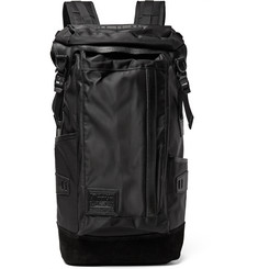 Master-Piece - Potential Leather and Suede-Trimmed Canvas Backpack