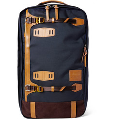 Master-Piece Potential Convertible Leather and Suede-Trimmed Canvas Backpack