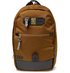 Master-Piece Surpass Leather-Trimmed Technical-Canvas Backpack