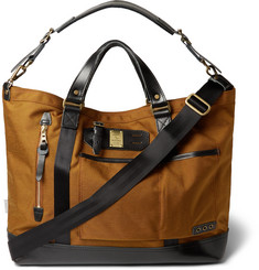 Master-Piece Surpass Leather-Trimmed Technical Canvas Tote Bag