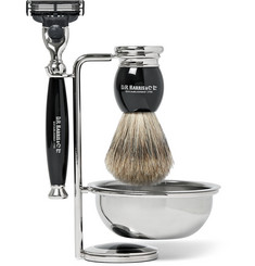 D R Harris Four Piece Ebony Shaving Set