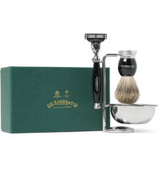 D R Harris - Four Piece Ebony Shaving Set