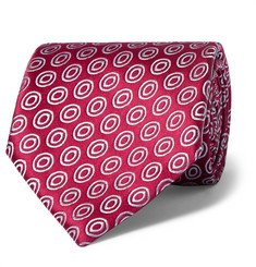 Charvet Circle-Patterned Silk-Jacquard Tie