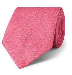 Charvet - Silk and Linen-Blend Tie