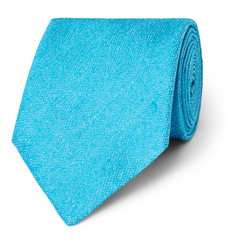 Charvet Silk and Linen-Blend Tie