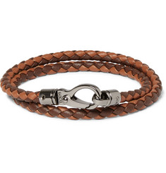 Tod's Woven Leather Wrap Bracelet