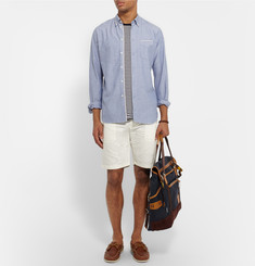 Gant Rugger Cotton and Linen-Blend Canvas Shorts