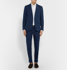 Gant Rugger Navy Cotton and Linen-Blend Blazer
