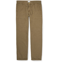 Gant Rugger Cotton and Linen-Blend Canvas Trousers