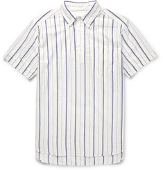Gant Rugger Button-Down Collar Striped Cotton Shirt