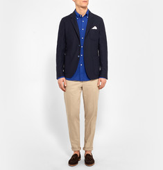 Gant Rugger Slim-Fit Button-Down Collar Basketweave Cotton Shirt