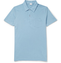 Sunspel Riviera Slim-Fit Cotton-Piqué Polo Shirt