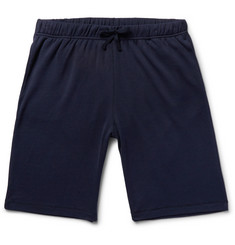 Sunspel Cellulock Textured-Cotton Shorts