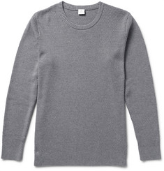 Sunspel Textured-Cotton Sweater