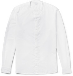 Sunspel Grandad-Collar Cotton Oxford Shirt