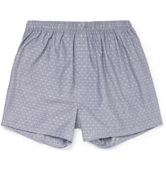 Sunspel Polka-Dot Cotton Boxer Shorts