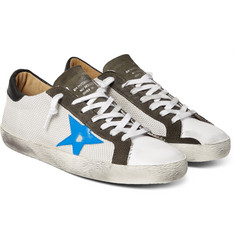 Golden Goose Deluxe Brand - Superstar Distressed Mesh, Leather and Suede Sneakers