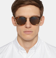 Bottega Veneta Square-Frame Tortoiseshell Acetate and Titanium Sunglasses